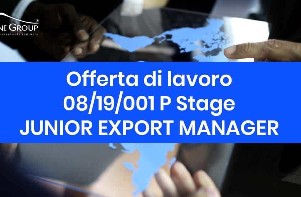 offerta di lavoro per la posizione di junior expert manager petrone