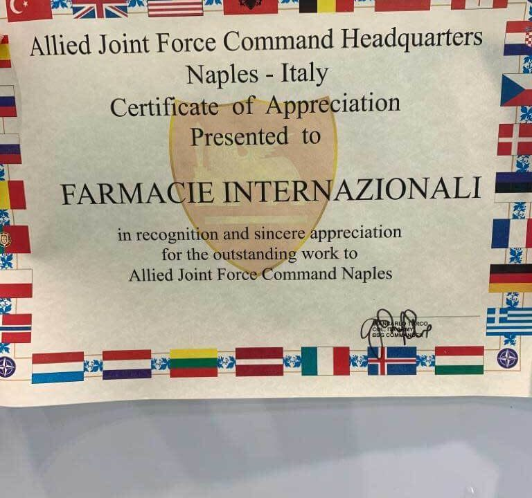 Allied joint force command headquarters Naples Farmacie Internazionali - Petrone Group