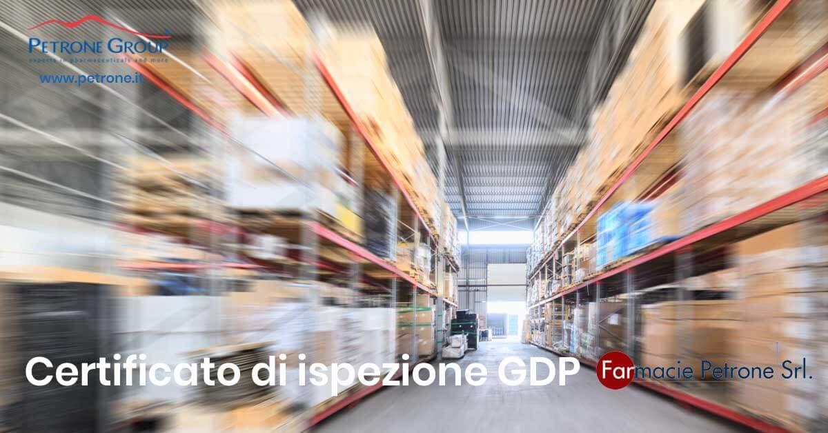 certificato di ispezione GDP Farmacie Petrone petrone group napoli
