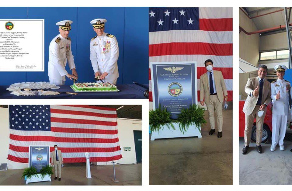 Camera di Commercio Americana al cambio di Comando della Base di Capodichino della Us Navy