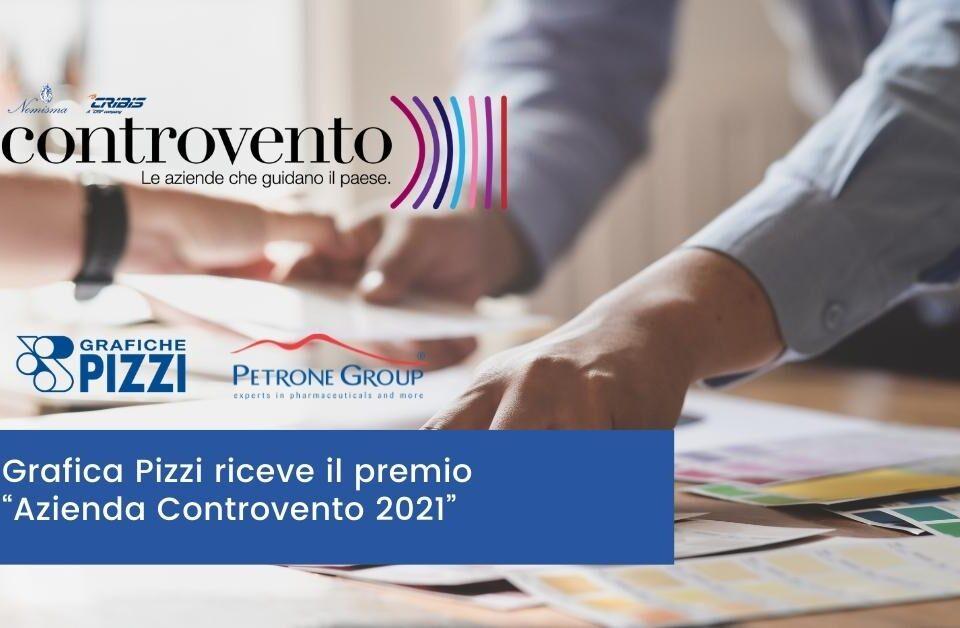 Grafica Pizzi riceve il premio Azienda Controvento 2021 Petrone Group